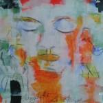 Let the sun shine- Acryl und Kreide auf Papier  100 x 70 cm