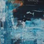 Hafen 477 aus 2014  50 x 50 cm Acryl Collage Struktur Kreide