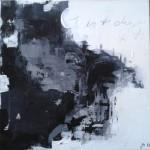 """Acryl/Mischtechnik - juriert für """"open minds"""" nach einem Gedicht von Franz Mon 50 x 50 cm Acryl Struktur"""