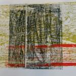 Holzdruck mit Collage