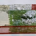 Ausgemolken - Holzdruck mit Collage (verkauft)
